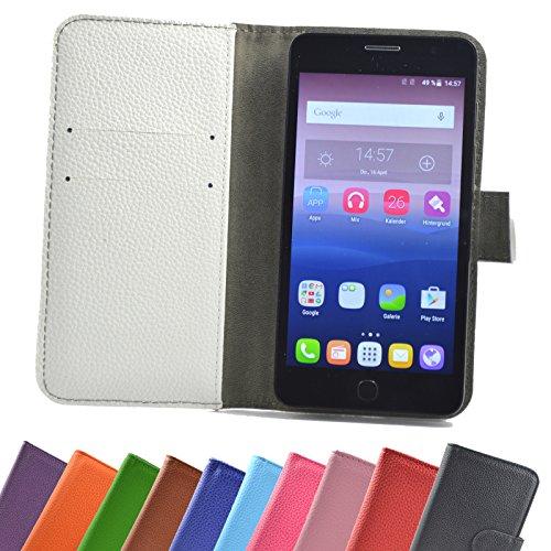 Archos 50d Neon Smartphone / Slide Kleber Hülle Case Cover Schutz Cover Etui Handyhülle Schutzhülle YT in Weiß