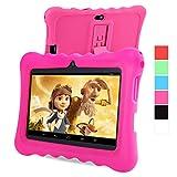 GBtiger L701 Kinder PC Tablet 7 Zoll (Android 4.4 Quad-Core 1,3 GHz, 512 MB RAM + 8GB ROM, HD-Auflösung von 1024 x 600, WiFi, GPS, Bluetooth) (Schwarz, Rosa Schale)