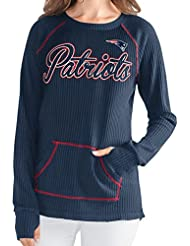 "New England Patriots Women's G-III NFL ""Post Season"" Waffle Knit shirt Chemise"