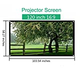 Mileagea 120 inch 16:9 Portable Projection Screen Home - Best Reviews Guide