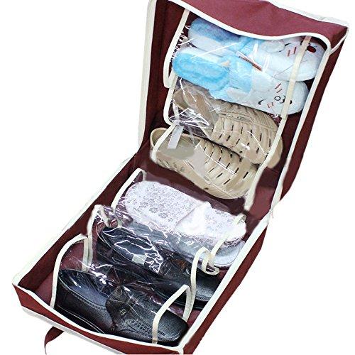 Fami Scarpe portatili di viaggio di immagazzinaggio dell'organizzatore del sacchetto Tote Deposito Carry Pouch Holder (WE)