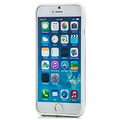 Hoco. Apple iPhone 6 / 6S Hülle Slim Case Cover Hardcase Schutzhülle | Pink Weiß