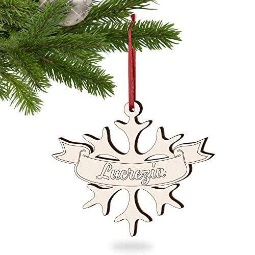 5 PZ di decorazioni natalizie personalizzate con 5 nomi o parole a tua scelta ideali come palline natalizie particolari, regali di natale personalizzati o segnaposto natalizio in legno - I MAESTRI