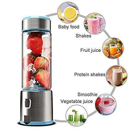 TTLIFE-Portable-Blender-USB-Rechargeable-Glasse-Stainless-Steel-Jucier-Cup-Powerful-Dual-Motor-5200-mAh-450ml-with-4-Blades-Juice-Mixer-Bottle-for-Fruit-Smoothie-Milkshake-FDABPA-Free