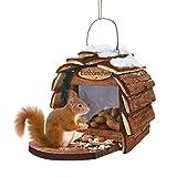 miaVILLA Futterhaus - für Eichhörnchen - mit Einfüllöffnung - einfache Reinigung - Tannenholz