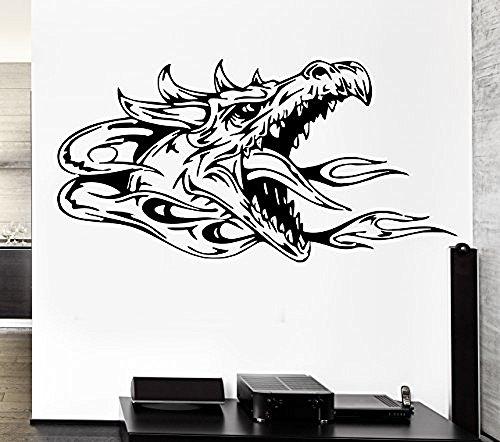 GGWW Wall Decal Dragon Myth Mythology Middle Age Fantasy Monster Cool Interior (Z2708)