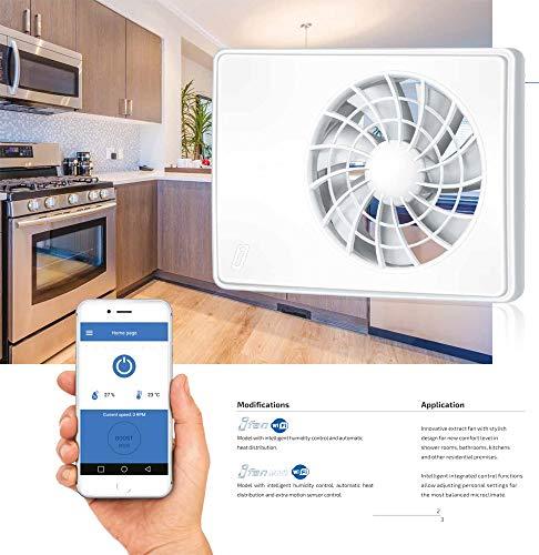 Ventilador extractor de baño silencioso con temporizador inteligente de humedad y funciones...