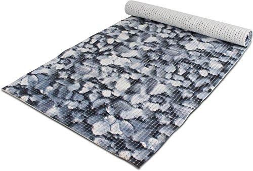 GearUp 65 oder 130 cm breiter Badvorleger/Rutschfeste Matte/Bodenbelag aus PVC Weichschaum,wasserabweisend und rutschhemmend für Bad, Dusche oder Küche Farbe Bluestone Größe 130 cm x 300 cm -