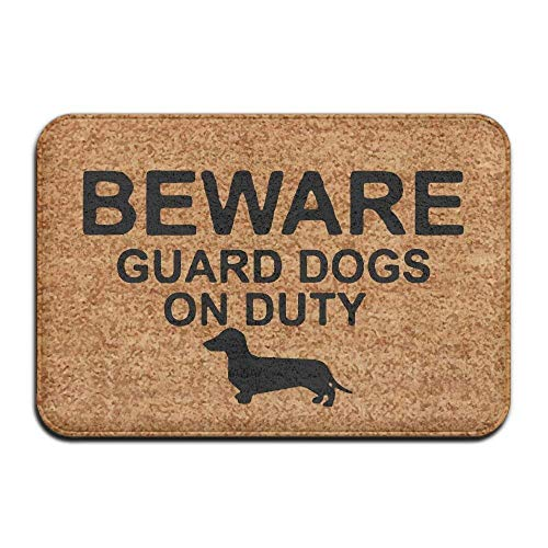 Trsdshorts Guard Dachshund On Duty Doormat Entrance Floor Mat Funny Door Mat 15.7