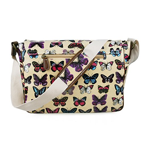 Stylla London, Borsa a secchiello donna (Butterfly Beige)
