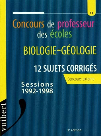 Biologie géologie : concours de professeur des écoles
