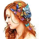 Frau Dame Mädchen Hochzeit Braut Braut 5PCS 3D Schmetterling Haarklammer Haar Clips Kühlschrank Magnet Ornament (Farbe / Größe zufällig) 80Store