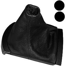 AERZETIX: Funda para palanca de cambios 100 % Piel Genuina negro Costuras de color negro