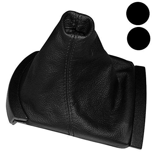 Aerzetix -Schaltsack Schalthebelmanschetten Schalthebelmanschette Schaltbetätigungs Schwarze Farbe 100% Leder schwarzen Nähten