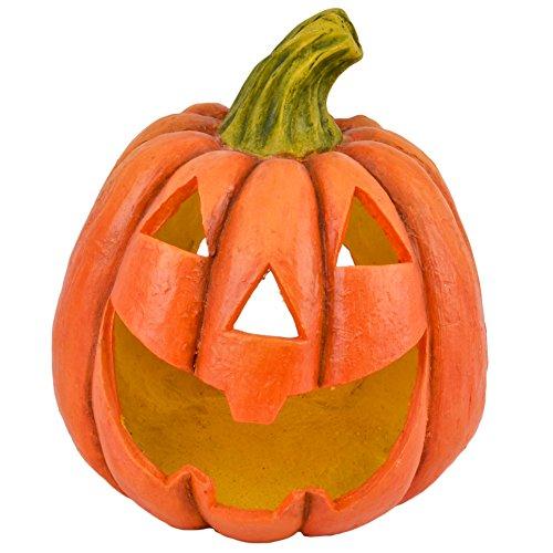 Dadeldo Living & Lifestyle Kürbis Deko Objekt Herbst Halloween Clayfibre 36x32x28cm orange Grusel (Inneren Im Halloween-deko-ideen)