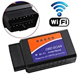 Elm327 W-lan OBDII Scanner, Gemwon OBD2 Wifi Adapter Auto Diagnose Scanner Code Reader Check Engine für Android und IOS(W-lan-Black)