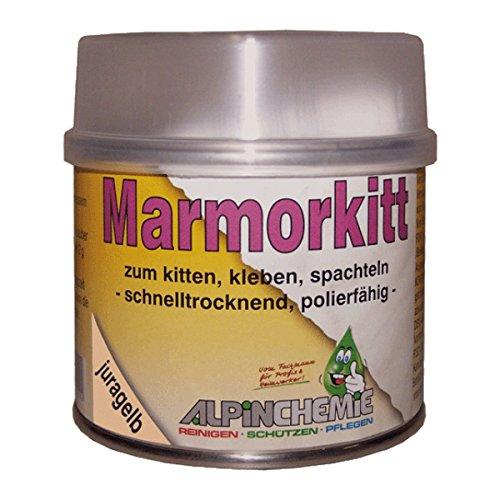 Alpin-Chemie - Marmorkitt zur Reparatur von Naturstein, Marmor, Granit, juragelb, 250 Gramm