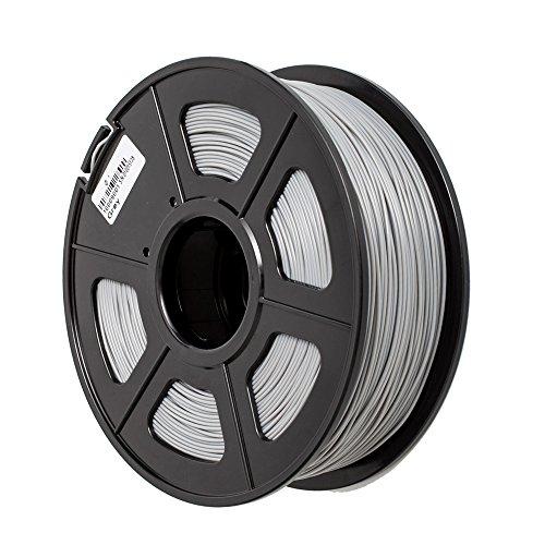TRITINA 3D Printer Filament ABS 1.75 mm Durchmesser,Maßgenauigkeit ± 0.02 mm,1 kg Spulengewicht,Farben Option (Grau)