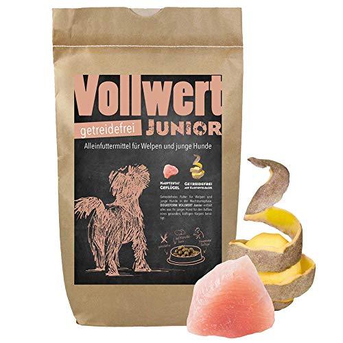 Schecker Dogreform VOLLWERT 6 kg Junior Trockenfutter Welpentrockenfutter getreidefreies Hundefutter für Welpen
