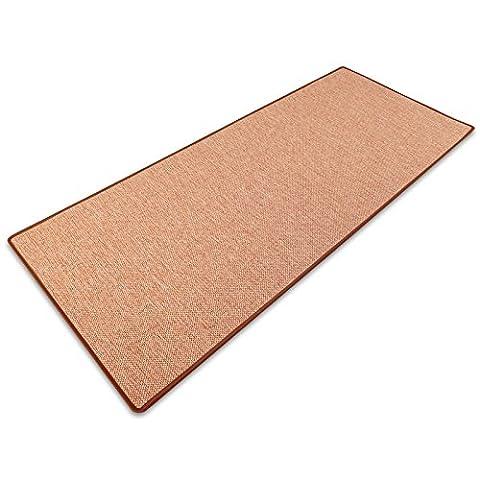 casa pura® Sabang 200x150cm Flatweave Sisal Effect Carpet Runner for Floor or Stairs - Anti Static,