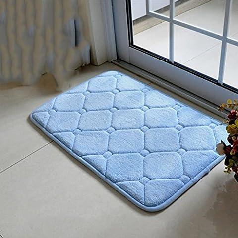 Estera, estera del baño de los 40 * 60cm, cojín antideslizante del cuarto de baño, cojín absorbente antideslizante, esteras de piso del látex, esteras baratas, estera personalizada ( Color : Azul )