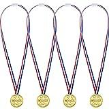 12 Pièces Médailles Or en Plastique pour Enfant Partie Médailles Gagnantes Médailles Prix