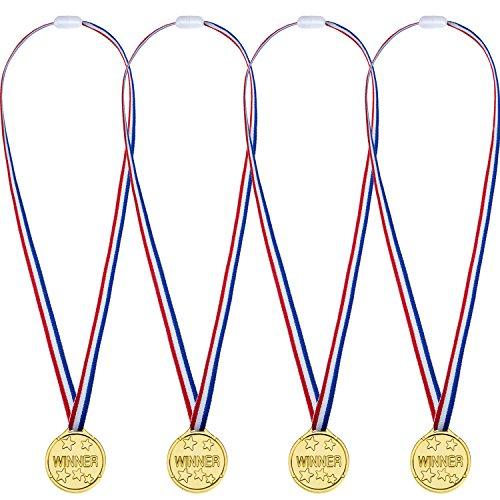 12 Packung Party Kinder Kunststoff Gold Gewinner Medaillen Golden Awards (Medaillen)