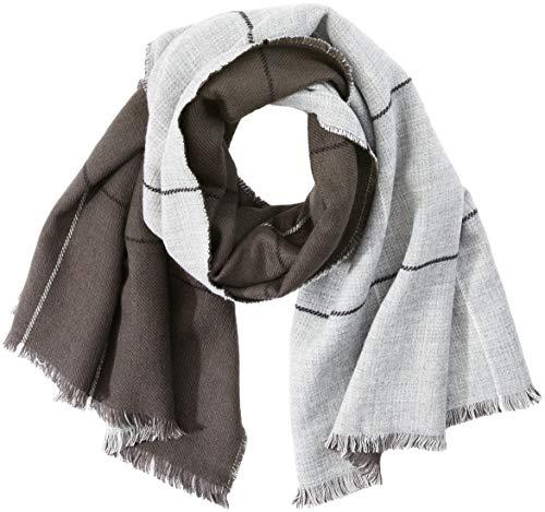 TOM TAILOR Damen Trilby Tuch mit Zwei Farben, Grau (Coal Grey 2718), One Size