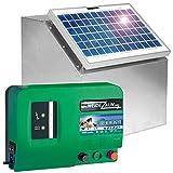 """Set elettrificatore recinzioni da pascolo """"Green Energy"""" 12 V + pannello solare 5W e scatola in metallo"""