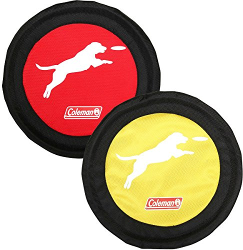 Coleman Hunde-Frisbee, 2 Stück, rot/gelb