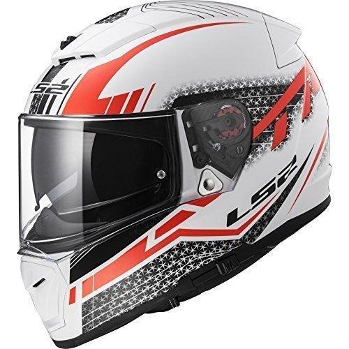 LS2 FF390 BREAKER DIVISO Bluetooth Pronto (Non incluso) Doppia Visiera Casco moto Integrale Integrali - Bianca Rosso M (57-58cm)