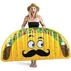 BigMouth Inc – Flotador Hinchable Taco Gigante – Inflable Colchoneta Piscina Playa