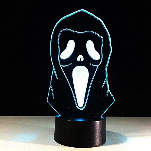Halloween-Lampe Farbe 3D Licht Touch sichtbares Licht Acryl Gradient LED Tischlampe Nachttischlampe Dekoration Lampe kreative Briefe schlafen leuchtende Geschenk Lichter