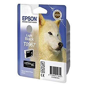 Epson T0967 Ink Cartridge, Light Black, Genuine, Amazon Dash Replenishment Ready