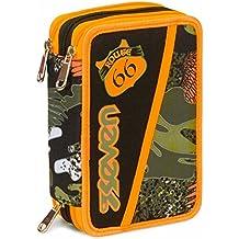 e0abbc1f2e Astuccio 3 Zip Seven , ALARY , Camouflage Verde , Con CONTENUTO: matite,  pennarelli