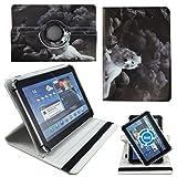 Rabe Weiße Wolf Tablet Tasche Schutz Etui Hülle für 10 Zoll Jay-Tech / CANOX Tablet PC 101