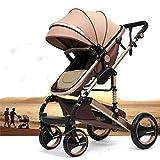 Kinderwagen 'California', 3 in 1 Kombikinderwagen inkl. Babywanne, Sportwagen und Zubehör, zertifiziert nach der Sicherheitsnorm EN1888, Beige