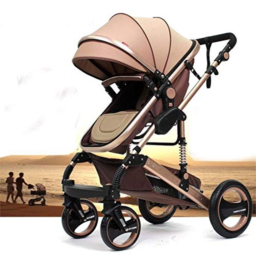 """Kinderwagen \""""California\"""", 3 in 1 Kombikinderwagen inkl. Babywanne, Sportwagen und Zubehör, zertifiziert nach der Sicherheitsnorm EN1888, Beige"""