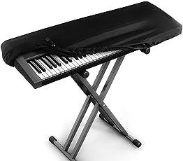 Kaxich Klavier Abdeckung, 88 Tastatur Elektronische Klavierabdeckung Dehnbare Klaviertastatur Staubdicht Abdeckung mit Kordelzug Piano Key Cover Schutz für Klaviertastatur