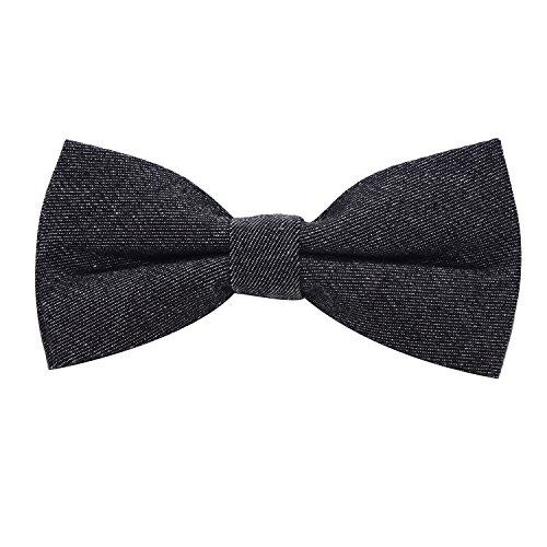 DonDon Herren Jeans Fliege Schleife gebunden 100% Baumwolle schwarz