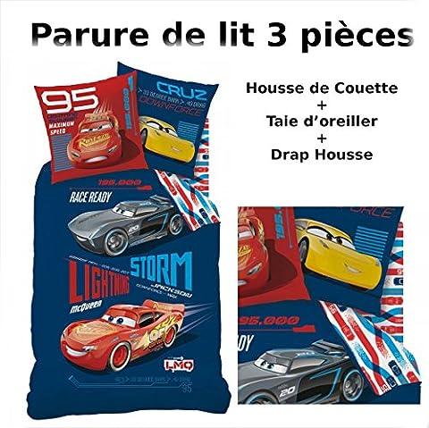 CARS - Parure de lit (3pcs) - Housse de Couette