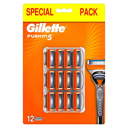 Gillette Fusion5 Lamette di Ricambio per Rasoio da Uomo con 5 Lame per una Rasatura Scorrevole,...