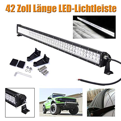 42-Zoll-120W LED Light Bar Punkt-Flut-Combo Strahl Offroad Fahren Lampe 6000K Super helles weißes Licht für SUV LKW-Boa -