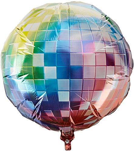70s Disco Fever Jumbo Foil Balloon. Fill with air or helium. Choice of colours.