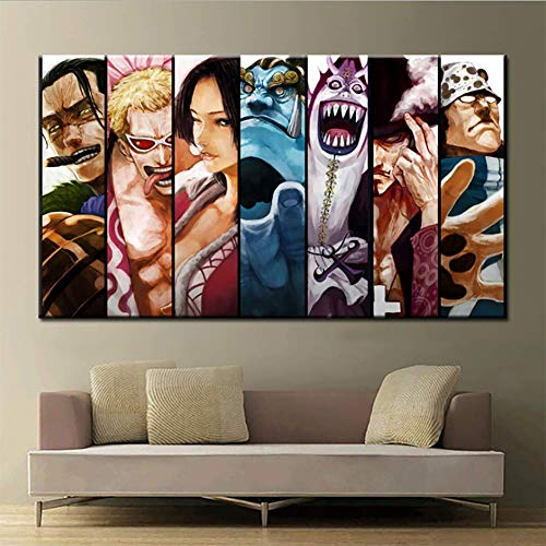 QJXX One Panel Modern Printed Poster One Piece Animation