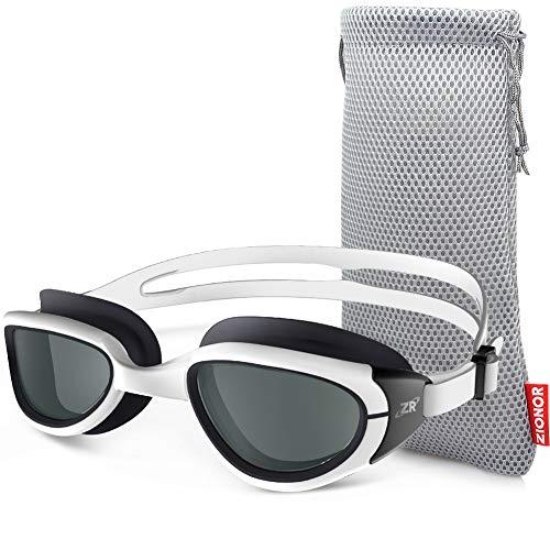 ZIONOR G6 Schwimmbrille mit Spiegel/klarem Objektiv UV-Schutz wasserdichter Antibeschlag Verstellbare Gurt Komfort Fit für Unisex Erwachsene Herren Damen Jugendliche (Einschließlich Schutztasche)
