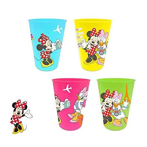 Minnie Mouse – Set 4 Verres de Plastique, 1153601 mid101464