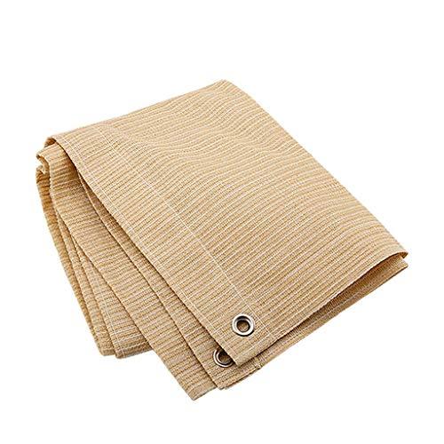 GDMING-Sichtschutznetz Sonnensegel Sunblock Shade Tuch Mit Ösen, Pflanzenschutz Atmungsaktiv Faltbar Reißfestigkeit 16 Größen (Farbe : Beige, größe : 1x4m) (ösen 1 4)