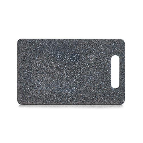 Schneidebrett mit Griff, Kunststoff Granitoptik, Servierbrett, Tranchierbrett in 3 Größen (klein 25 x15cm)