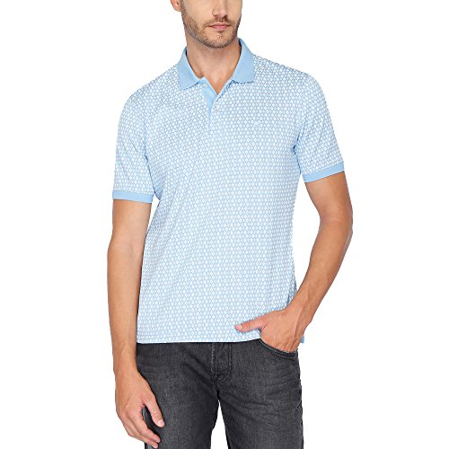 Louis Philippe Mens Printed Polo T-shirt  available at amazon for Rs.1399